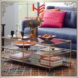 Seitliche Tisch- für Systemkonsoletee-Tisch-Edelstahl-Möbel-Ausgangsmöbel-Hotel-Möbel-moderner Möbel-Tisch-Kaffeetisch-Ecken-Tisch des Tisch-(RS161004)