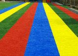 grama artificial sintética do campo do relvado da cor decorativa de 25mm para decorações do jardim