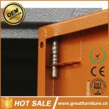 Cacifo dos armários das portas do metal 4 do Wardrobe do punho do plástico e do metal