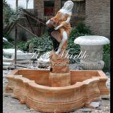 Классический пестротканый фонтан статуи для украшения Mf-575 сада
