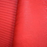 Rotes Baum-Barke geprägtes PU-Leder, künstliches strukturiertes Beutel-Leder