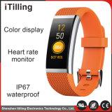 Wristband astuto del USB della vigilanza personalizzato braccialetto di gomma su ordinazione del silicone di sport di marchio di modo per il regalo promozionale