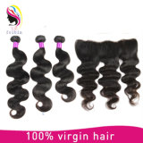 Body Wave Brazilian Hair Cheveux 4 * 13 Frontal Lace Closure