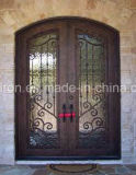 Hand-Crafted Luxuxsicherheits-Vorderseite-bearbeitetes Eisen-Tür für Haus