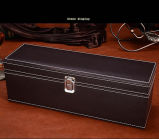 A fábrica de couro PU de alta qualidade única caixa de Vinho Tinto, caixa de embalagem