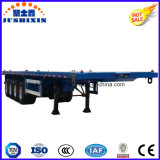 3 remorque de lit plat des essieux 40FT/de conteneur remorque semi