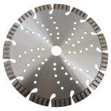 La circular del diamante vio la lámina para el corte de piedra del mármol del granito