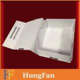 Rectángulo de regalo magnético plegable de lujo del encierro del paquete plano