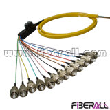 12f de la cinta de fibra óptica FC en forma de espiral plana con Cable de fibra óptica