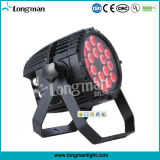 CE/RoHS/UL/CQC Approved Outdoor CE18*10W RGBW DMX DJ Stage LED PAR Light für Theatre