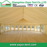 Clear Span Wedding Party Tent com cadeiras e palco