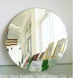 銀製ミラーの家具が付いている円形の斜めミラー、壁ミラー、浴室
