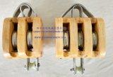 Regelmäßiger hölzerner Block ohne Fessel-Doppelt-Antriebsscheibe