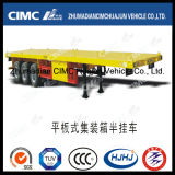 최신 Cimc Huajun 40FT Huajun Flatbed Semi-Trailer