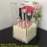 Cadres acryliques transparents de produits de beauté de balai