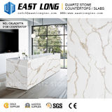 Bonne qualité de marbre veiné comptoir en pierre de quartz blanc