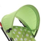 Passeggiatore facile dell'elemento portante di bambino di verde di piegatura degli elementi del bambino