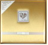 """Album de scrapbook en tissu de soie 12 """"X12"""" avec cadre et ruban pour bébé"""