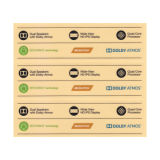 Adhesión fuerte impresión de etiqueta para la electrónica de consumo de PET/PP/PC CON AUTOADHESIVO