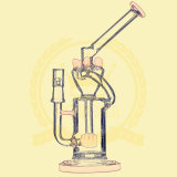 Adustable Nido de abeja R38 Birdcage ducha de tabaco de vidrio de fumar pipa de agua de alta calidad Reciclador de tabaco de color Tall Bowl de cristal Artesanía cenicero de tubos de vidrio