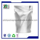 La coutume a estampé le sac ordinaire de blocage de fermeture éclair de papier d'aluminium