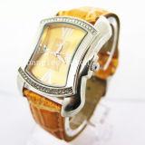 Relógio de quartzo do pulso das mulheres do relógio da liga do estilo da forma (HL-CD19)