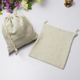 Modo Drwastring doble bolsa de joyas de la bolsa de lona de algodón para la alimentación