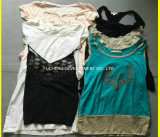 Gebruikte Kleding van Koreaanse Stijl Dame Fashion Chilffon Dress voor Afrikaanse Markt (fcd-002)
