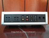 De Contactdoos van de Desktop van de driehoek met HDMI