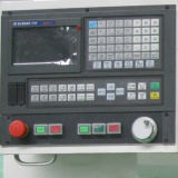 Pequeno quadro de torno CNC com alimentador de barra para venda Ck6432A