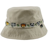 Contraste en sangle lavable Twill Leisure Golf Bucket Cap Hat (TRBT009)