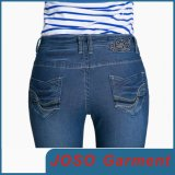 Donne e Girls Lycra Cotton Denim scarno Jeans (JC1059)