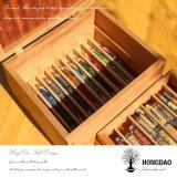 Hongdao 도매 주문을 받아서 만들어진 나무로 되는 펜 전시 Box_D