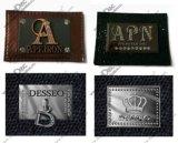 Джинсы наклейка из натуральной кожи с металлическими, металлическая этикетка для джинсов (PDF-029)