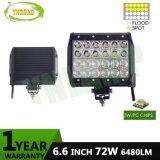 Offroad 몰기를 위한 6.6inch 72W 4 줄 바 크리 사람 LED 일 표시등 막대