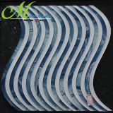 China Arc-Shape fábrica de vidro de cor branco azul Mosaico Mosaico para parede