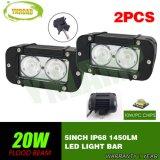 barre tous terrains d'éclairage LED du CREE DEL de 20W 5inch pour le SUV