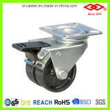 Schwarze doppelte Rad-Plastikfußrolle (G193-30B050X19D)