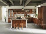 Кухонные шкафы кухни твердой древесины конструкции темного деревянного цвета модульные подгонянные