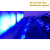 Het plastic RGB LEIDENE 18X1w Vlakke Licht van het PARI