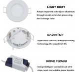 Luz del panel de la CA 85-265V LED Downlight