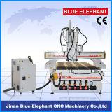 Macchina del router di CNC della base di vuoto di falegnameria, router di CNC del cambiamento dello strumento delle 1325 automobili con tre assi di rotazione