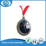 Médaille d'émail antique à grande ronde sur mesure 2017 avec lanière