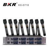 KxD718 8チャネルの無線Lavalierのマイクロフォン