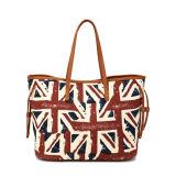 Estilo retro el patrón de bandera británica Tote Bag (MBNO040019)