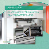 Серебряная Coated пленка изоляции любимчика для передвижной упаковывать батареи