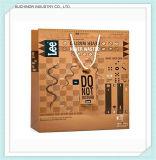 Kwaliteit Verzekerde het Winkelen van het Document van de Luxe van het Handvat van het Lint van het Embleem van de Douane Zwarte Zak