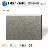 Pedra Polished artificial de quartzo do espelho de vidro da cor cinzenta para bancadas