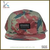 カスタム帽子および帽子の平らなビルCamo 5のパネルのキャンピングカーの帽子