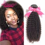 Preço por grosso Tecelagem de fio de cabelo humano Kinky Curly Virgem Cabelo peruana